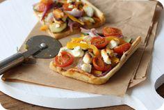 Plaattaart met tomaten tapenade en geitenkaas | Gezonde slanke recepten | Flinndal