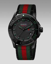 Gucci Sport XL watch. Rockin the old school band.