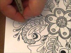 Mandala Flower and Vines
