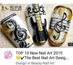 shapes coffin Step By Step - - nail shapes coffin Step By Step – -nail shapes coffin Step By Step - - nail shapes coffin Step By Step – - Studio mix Nail Art ✰A Fashion Star✰ 1000 nail art Ideas Pin Up Nails, Cute Nails, Pretty Nails, Winter Nail Designs, Best Nail Art Designs, New Nail Art, Cool Nail Art, Music Nails, Nagel Stamping