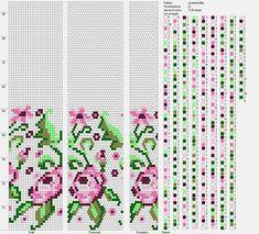 22 around tubular bead crochet rope pattern Crochet Bracelet Pattern, Crochet Beaded Bracelets, Bead Crochet Patterns, Bead Crochet Rope, Beading Patterns, Embroidery Patterns, Beaded Crochet, Knitting Charts, Seed Bead Jewelry