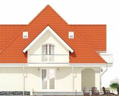 Proiect-casa-cu-Mansarda-18011-fatada2 House Doors, Facade House, Home Building Design, Building A House, Modern Tv Room, Bungalow Style House, House Design Pictures, Dream Home Design, Design Case