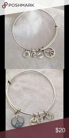 World Peace Charm Bangle Silver metal Alex And Ani World Peace Charm Bangle. Alex & Ani Jewelry Bracelets