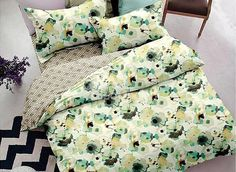 Fresh Style Floral 4-Piece Polyester Duvet Cover Sets #bedding #bedroom