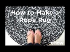 How to Weave Fabric Into a Rope Rug | eHow