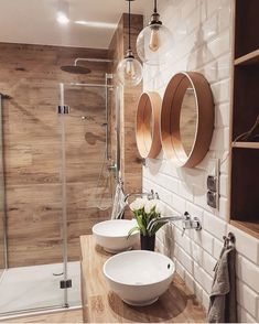 Modern glass shower enclosure models Bathroom decorations must be able to meet many needs at the same time. We have to decorate our bathrooms with the … bathroom Bad Inspiration, Bathroom Inspiration, Interior Inspiration, Interior Ideas, Cheap Bathrooms, Amazing Bathrooms, Master Bathrooms, Bathroom Styling, Bathroom Interior Design