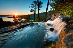 Sunrise at Eagle Falls    Nestled in the lush Tahoe National Forest, near the base of the majestic Lake Tahoe, is an equally impressive ...