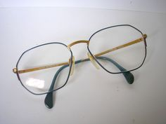 eff979fc7e Vintage retro Shilhouette glass and gold metal frames men eyeglasses 1980