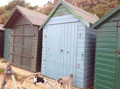 Blue is the new black @ Hill Head Beach Huts.