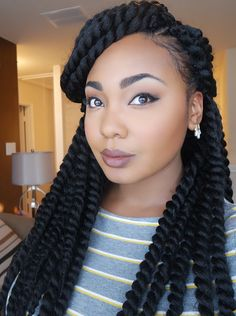 Crochet Hairstyles: Crochet Braids Styles Ideas (Trending In . Crochet Hair Styles styles for crochet braids with marley hair Crochet Afro, Best Crochet Hair, Marley Crochet, Crochet Senegalese Twist, Havana Crochet Twist, Havana Twists, Crochet Braids Box, Natural Crochet Hair, Braid Styles
