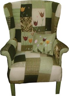 Re-upholstered vintage armchair from Rustique Interiors.