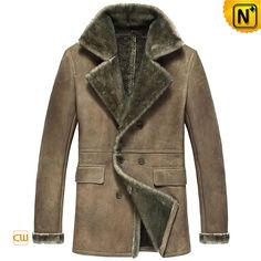 Vintage Sheepskin Shearling Coats for Men CW877206 $1668.89 - www.cwmalls.com