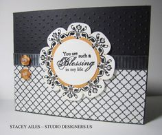 Stampin Up, Studio Designers, Daydream Medallions, Blessings from Heaven, Floral Frames Framelits, Modern Medley, Thinking of You