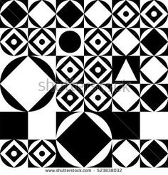 Black and white geometric pattern. Decorative ornament. Geometric background