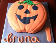 Tarta decorada calabaza Halloween / Halloween pumpkin cake
