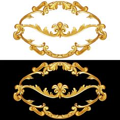 Baroque, Calligraphy, Crown, Jewelry, Wood, Frame, Art, Picture Frame, Art Background