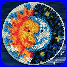 Sun and Moon perler beads by yana_vlad_2003