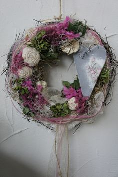 Wreaths For Front Door, Door Wreaths, Grapevine Wreath, Corona Floral, Country Wreaths, Wire Art, Christmas 2016, Flower Decorations, Wedding Centerpieces