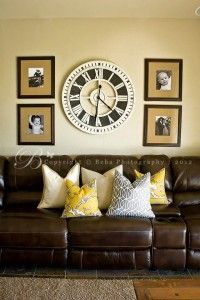Janelle Labuda- do u think I can do this on our wall in my living room ? Already have the clock...