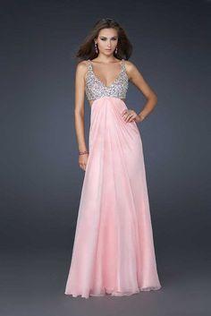 Glamorous Long Sequin Prom Dresses by La Femme 17472 Pink Sale