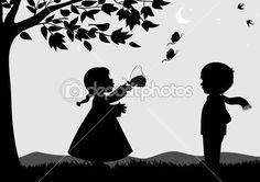 Kids outdoors by rodicabruma - Grafika wektorowa