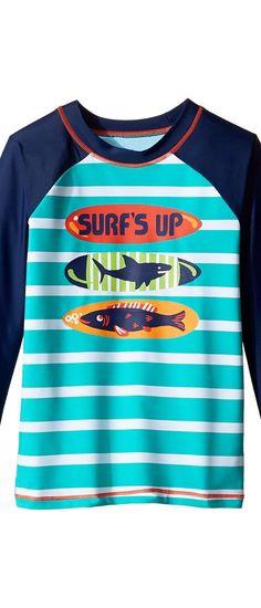 NWT GAP Surfboard Skull Surf Rad Graphic Rashguard Swim Shirt Top Boys M 8 L 10