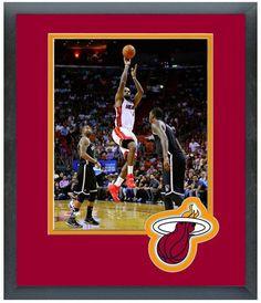 LeBron James 2013-2014 Miami Heat - 11 x 14 Team Logo Matte/Framed Photo