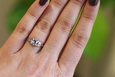 This is one of our Shop Manager, Claire's favourites rings - and we can see why when it's on! It's has a lovely unique twist on traditional solitaire rings SKU: A1368 Price: GBP £1,795.00 http://www.acsilver.co.uk/shop/pc/0-62-ct-Diamond-and-18-ct-White-Gold-Solitaire-Ring-Antique-Circa-1930-35p6906.htm#.VNzKsuHzC7R #diamond #solitaire #1930s #engagement #ring #jewellery #women
