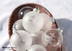 Etched Holiday Ornaments