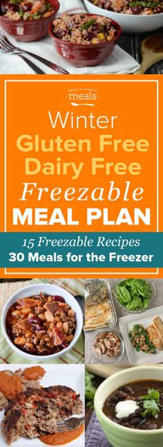 This Winter Gluten Free Dairy Free Freezer Menu contains 30 meals worth of delicious, family-pleasing freezable recipes to make ahead so that you're ready for whatever your month has in store.
