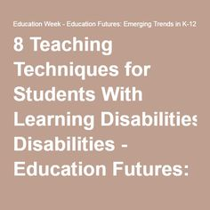 emerging trends in special education Emerging trends in educational technology: education and virtual special approach to the adult and professional labour force whose needs may not be.