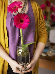 #recycling glass jars for a take-away #ecofriendly party favor