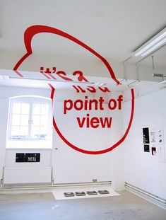 Joseph Egan & Hunter Thomson, graduates of the Chelsea School of Art & Design created this anamorphic type installation as part  of their final project (2 of 4 images)