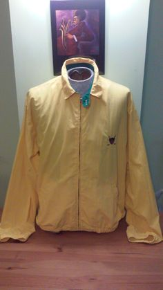 21512152 Vintage Unisex Retro Yellow Polo Windbreaker By Ralph Lauren by  VintageMixWest on Etsy Rain Jacket,