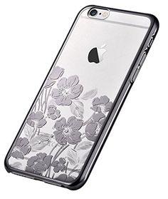70cdeb691dd8e2 Devia iPhone 6s Plus Case, Rococo Series Glitter Original Swarovski Element  Crystal Transparent Hard Case Bumper Cover for iPhone 6 Plus/6s Plus -  Silver