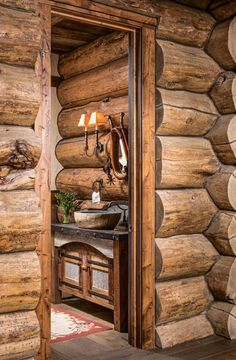 In Vail, Colorado, log structures are quite common. But this completely customized dream log home stands apart from the crowd. Metal Countertops, Quartzite Countertops, Exterior Doors, Interior And Exterior, Floor Plan Sketch, Vail Village, Rustic Kitchen Design, Rustic Bathrooms, Stone Veneer