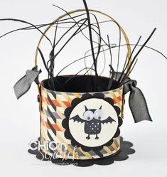 Halloween Toilet Paper Roll Basket  Chic 'n Scratch