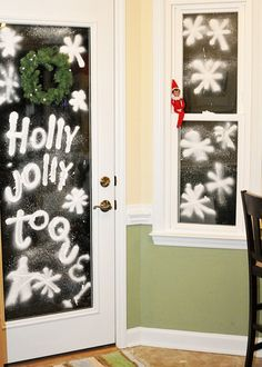 Elf on the Shelf does spray snow
