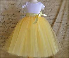 Amarillo tutu para niñas. Una mezcla por TutusChicOriginals en Etsy