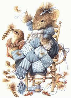 Marjolein Bastin, Vera the Mouse illustration. Art And Illustration, Images D'art, Art Mignon, Marjolein Bastin, Nature Artists, Cute Mouse, Sewing Art, Dutch Artists, Beatrix Potter