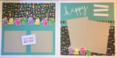 Happy Monstrous Birthday layout by Kaylene Peters. CTMH Jeepers Creepers