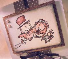 Partecipazione nozze gufi sposi country rustico : Partecipazioni di chiara-scrapchic