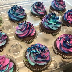 descendants 3 Smooches By Stacie - Descendants 3 - Mal cupcakes DM to place orders & pricing Smooches by Stacie Chesapeake, VA 3rd Birthday Cakes, 11th Birthday, 6th Birthday Parties, Birthday Ideas, Cupcake Party, Cupcake Cakes, Decendants Cake, Custom Cupcakes, Bday Girl