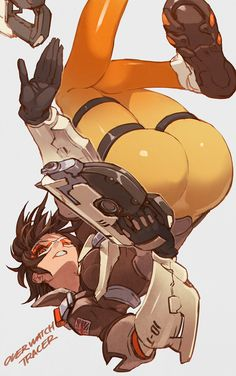 "lalalalack: "" Overwatch TRACER "" - More at https://pinterest.com/supergirlsart/"