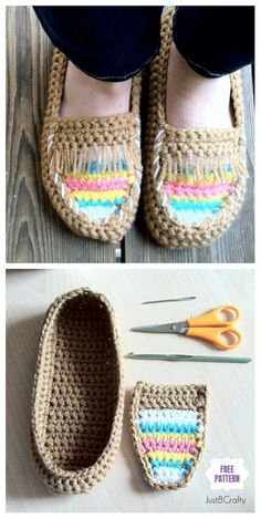 DIY Crochet Adult Slippers Pattern Round Up- Crochet Tribal Moccasin Slippers Free Pattern Crochet Women Slippers Shoe Pattern Round Up: Crochet Slipper Free Pattern, Crochet Shoes Pattern Free Crochet Diy, Crochet Socks, Crochet Woman, Crochet Crafts, Crochet Clothes, Knit Socks, Diy Crochet Shoes, Crocheted Slippers, Crochet Patterns Free Women