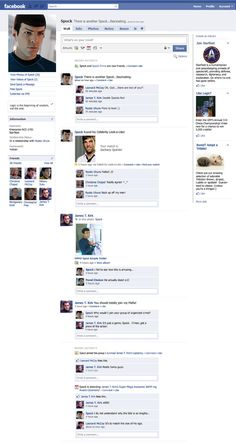 Spock's Facebook Page by ~PhantomKat813 on DeviantArt