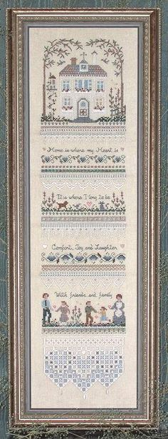 Heirloom Homecoming Sampler by Victoria Sampler - Cross Stitch Kits & Patterns