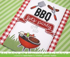 Let's BBQ, Gingham Backdrops, Cole's ABCs