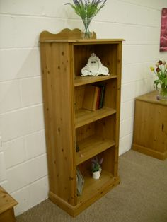5 FT SOLID PINE BOOKCASE LOVELY CONDITION - W 66 - D 33 - H 5 FT - £125 http://www.drabtofabfurniture.co.uk/non-painted-furniture/