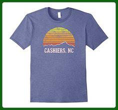 Mens Retro Cashiers North Carolina Mountain Sunset T-Shirt 2XL Heather Blue - Retro shirts (*Amazon Partner-Link)